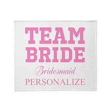 Team Bride | Personalized Wedding Throw Blanket