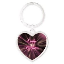 Lady Pipeliner Heart Keychain