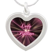 Lady Pipeliner Silver Heart Necklace