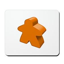 Orange Meeple Mousepad