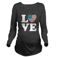 Love USA Long Sleeve Maternity T-Shirt