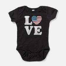 Love USA Baby Bodysuit