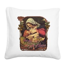 Gift of Love Square Canvas Pillow