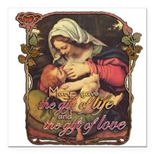 """Gift of Love Square Car Magnet 3"""" x 3"""""""