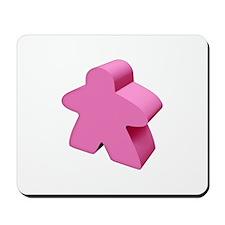 Pink Meeple Mousepad