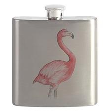 Flamingo Watercolor Flask
