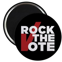 """Rock The Vote: 2.25"""" Magnet (10 Pack) Magnets"""