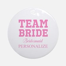 Team Bride | Personalized Wedding Ornament (Round)