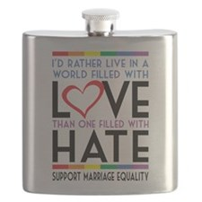 Love Over Hate Flask