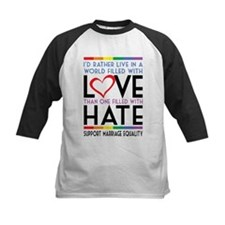 Love Over Hate Baseball Jersey