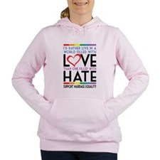 Love Over Hate Women's Hooded Sweatshirt