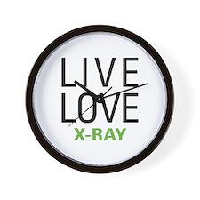Live Love X-Ray Wall Clock