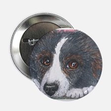 """Thoughtful Border Collie dog 2.25"""" Button"""