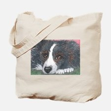 Thoughtful Border Collie dog Tote Bag