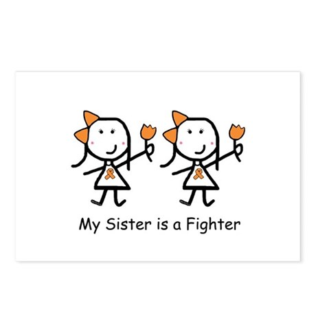 Orange Ribbon - Sisters Postcards (Package of 8)