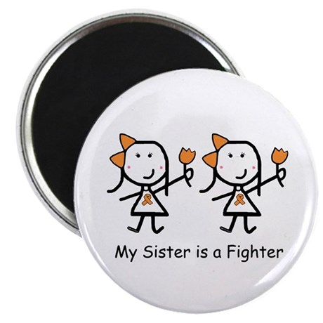 Orange Ribbon - Sisters Magnet
