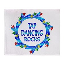 Tap Dancing Rocks Throw Blanket