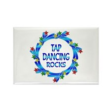 Tap Dancing Rocks Rectangle Magnet (100 pack)