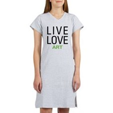 Live Love Art Women's Nightshirt