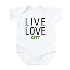 Live Love Art Onesie