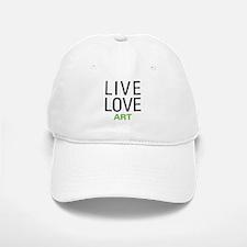 Live Love Art Baseball Baseball Cap