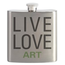 Live Love Art Flask