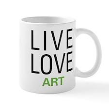 Live Love Art Small Mug
