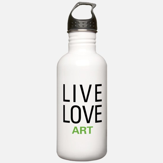 Live Love Art Water Bottle