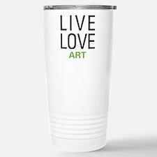 Live Love Art Stainless Steel Travel Mug