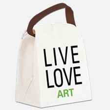 Live Love Art Canvas Lunch Bag