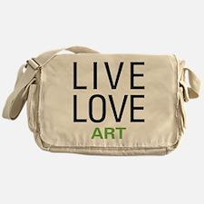 Live Love Art Messenger Bag