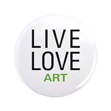 "Live Love Art 3.5"" Button (100 pack)"