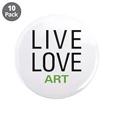 "Live Love Art 3.5"" Button (10 pack)"