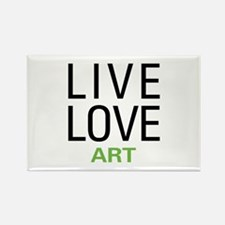 Live Love Art Rectangle Magnet