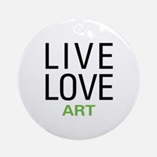 Live Love Art Ornament (Round)