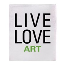 Live Love Art Throw Blanket