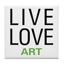 Live Love Art Tile Coaster