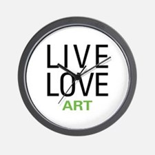 Live Love Art Wall Clock