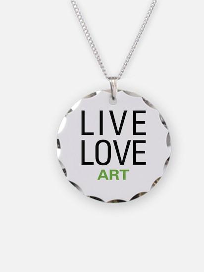 Live Love Art Necklace