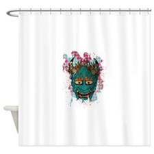 Japanese Demon Shower Curtain