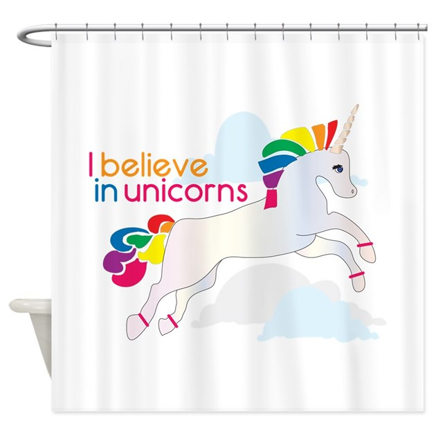 Believe In Unicorns: I Believe In Unicorns Shower Curtain By Windmill4