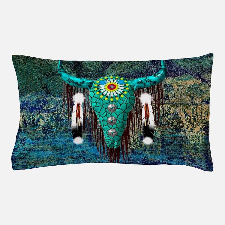 Turquoise Buffalo Pillow Case