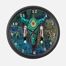 Turquoise Buffalo Large Wall Clock