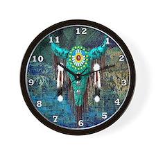 Turquoise Buffalo Wall Clock