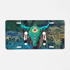 Turquoise Buffalo Aluminum License Plate