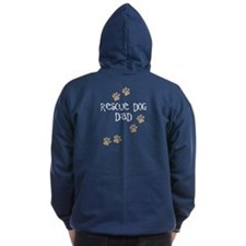 Rescue Dog Dad Zip Hoodie