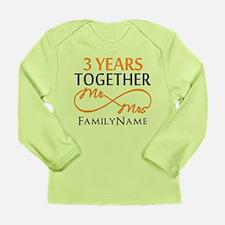 3rd anniversary Long Sleeve Infant T-Shirt