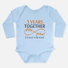 3rd anniversary Long Sleeve Infant Bodysuit