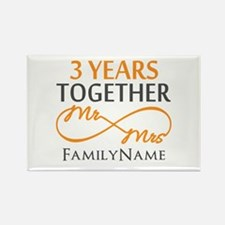 3rd anniversary Rectangle Magnet (100 pack)