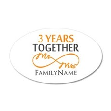 3rd anniversary Wall Decal